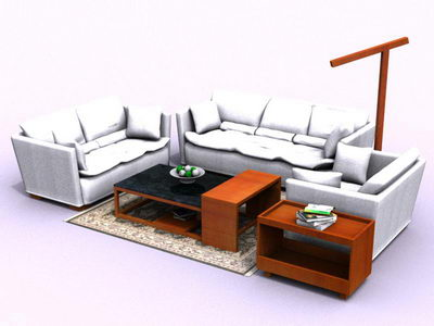 White sofa in living room