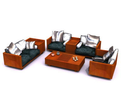 Modular sofa in living room