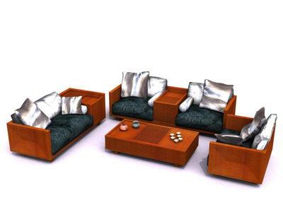 Modular sofa in living room