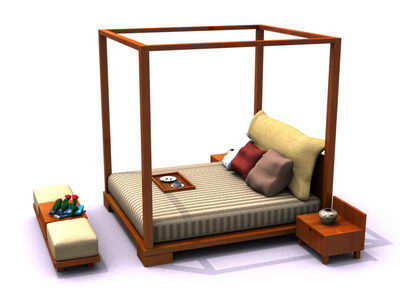 Bed with Valance