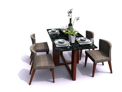 Tables and chairs for dining