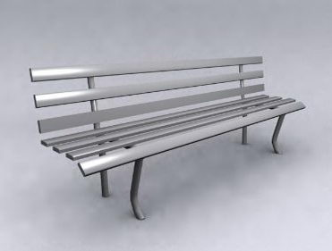 Simple model of the gray chair