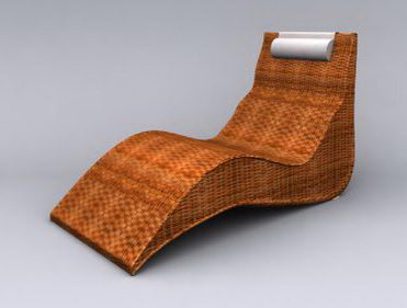 Cane-Made Leisure Chair Model