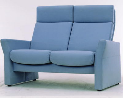 Blue backrest armchair