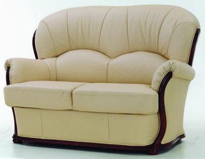 sector beige redwood sofa