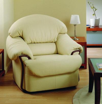 White back cushion armchair