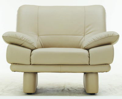 Write leather single sofa