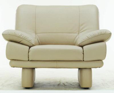 Write leather single sofa
