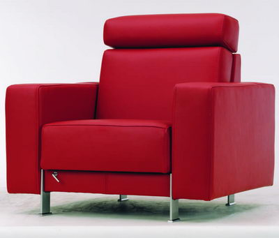 Red single armchair