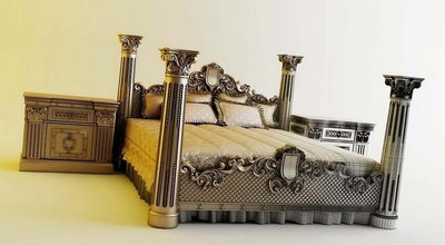 European-style bed