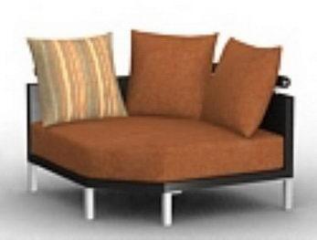 Upholstered round sofa