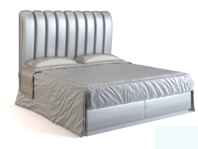 Silver-bed 3D Model