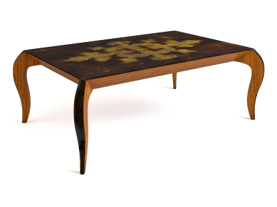 European-style coffee table model 4