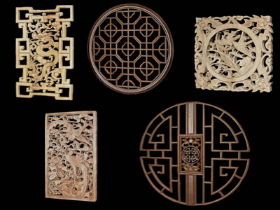 3D Model of Chinese wood carving, paragraph 3-5