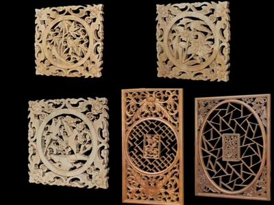 3D Model of Chinese wood carving hollowing