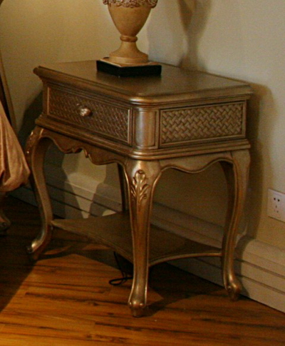 European-style bedside cabinet (with map)