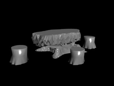 Root tea table model 2