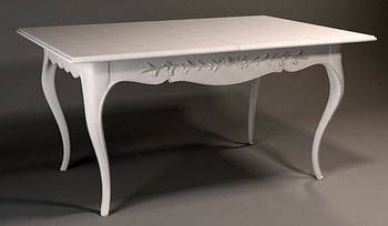 3D Model of European-style rectangular coffee table 3