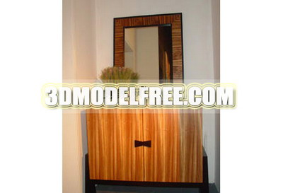 Furniture Bed TV cabinet solid wood double bed bedside cabinets display 3D models