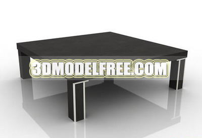 Coffee table square table dresser solid wood furniture, wooden table with a round-table table 3D Mod