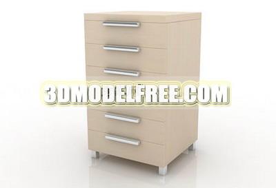 Solid wood wardrobe cabinets bedside lockers TV cabinet 3D Model