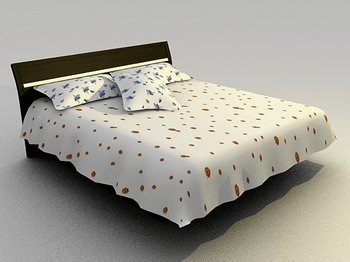 3D model of a small Saika bed