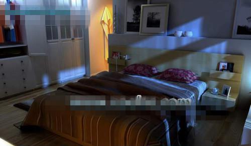 Warm household bedroom  3d model