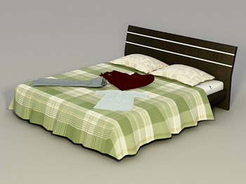 Bed bed 3D Model of Household furniture, wood utility