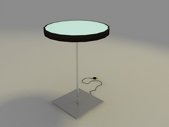 Round table, 3D model of fashion taste fine furniture