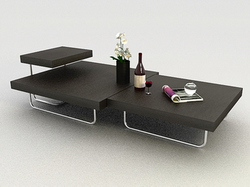 Coffee table furniture, modern furnishings fashion boutique 3D Models