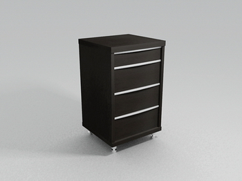 Bedside cupboard lockers fashionable modern furniture 3D Models