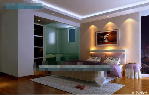 Extreme simplicity relaxed bedroom 3d model