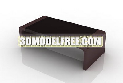 Furniture 3D Model: Dark Color Coffee Table 3ds Max Model