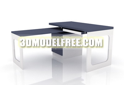 Multi-function office desk 3D models