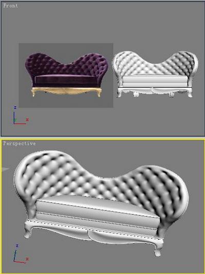 Cloth sofa 3D models