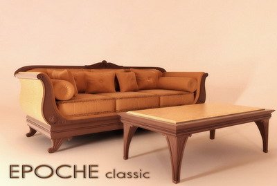 Funiture 3Ds Max Model: Sofa and Coffee Table Combination 3dsmax Model