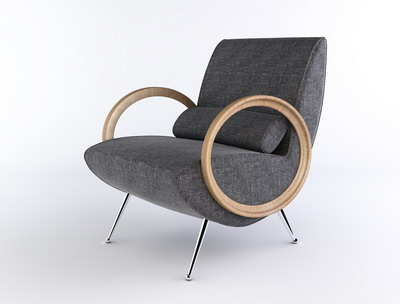 Modern Furniture Model£º Grey Lounge Armchair Livingroom Furniture