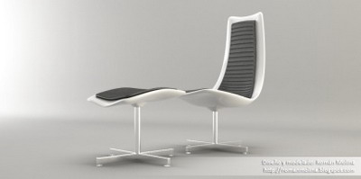 Modern Style Furniture: Lounge Chair Business Use 3Ds Max Model