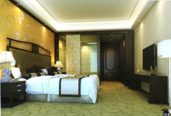 The Chinese classical spacious bedroom model
