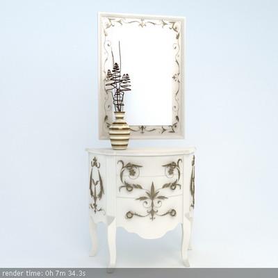 Furniture Model: Country Style Foyer Drawer Dresser