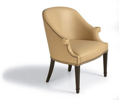 Furniture Model: Creamy Victorian Leather Armchair