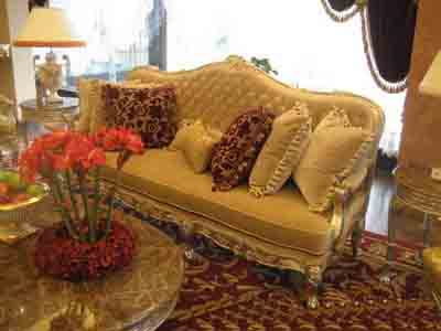 Furniture Model: Deluxe Brown Velvet Sofa