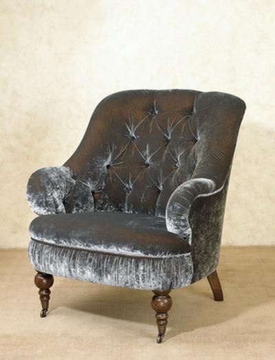 Furniture Model: Black Velvet Armchair