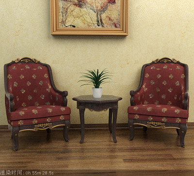 Furniture Model: Victorian Fabric Armchair