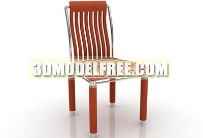 Furniture 3Ds Max Model: Long Back Chair