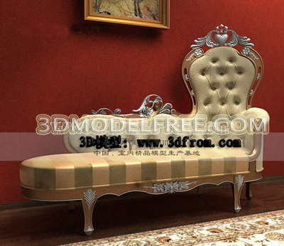 European-style luxury chaise lounge 3D model