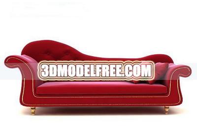 Delicate soft sofa 3D model