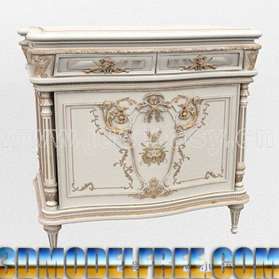 European Furniture Model: Victorian Carved Cabinet
