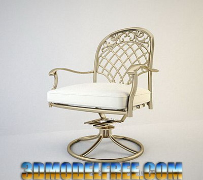 Furniture Model: European Metal Armchair 3DsMax Model