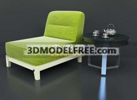 Lounge Chair --Apple Green